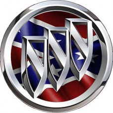 Buick Logo with Rebel Flag Background Stickewr