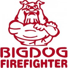 Bulldog Firefighter Diecut Decal