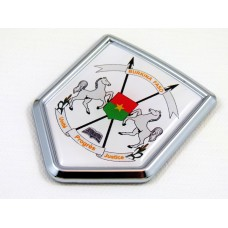 burkina faso shield chrome car badge