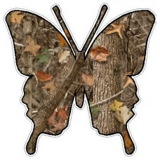 Butterfly Camo Sticker 2 - NATURE