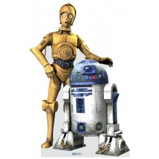 C3PO and R2D2 Decal