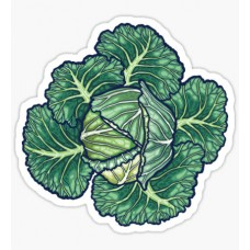 cabbage head farming sticker