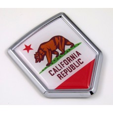 california US state flag domed chrome emblem car badge decal