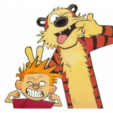 Calvin and Hobbes Color Diecut Decal 1