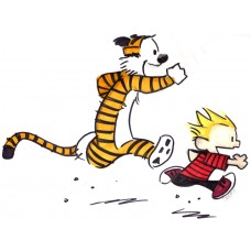 Calvin and Hobbes Color Diecut Decal 3