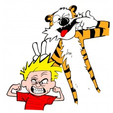 Calvin and Hobbes Color Diecut Decal 4