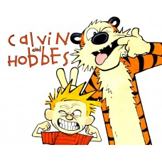 Calvin and Hobbes Rectangular Color Stickers 03