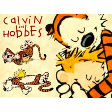 Calvin and Hobbes Rectangular Color Stickers 09