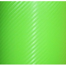 Carbon Fiber Adhesive Vinyl Sheet Decal LIME GREEN