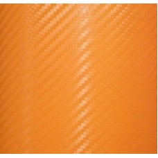 Carbon Fiber Adhesive Vinyl Sheet Decal ORANGE