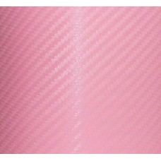 Carbon Fiber Adhesive Vinyl Sheet Decal PINK