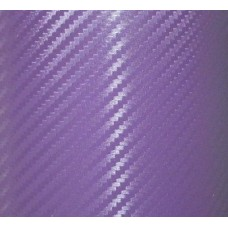 Carbon Fiber Adhesive Vinyl Sheet Decal PURPLE