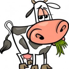 Cartoon Cow farming Sticker