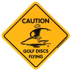 Caution Golf Discs Flying Stickers Disc Player Sticker