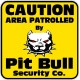 Caution Protected by Pit Bull Security Color Sticker