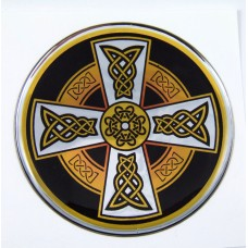 Celtic Dome 1 3D Chrome Background Adhesive Car Badge