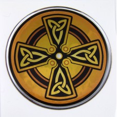 Celtic Dome 2 3D Chrome Background Adhesive Car Badge