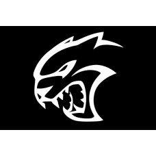 CHARGER SRT HELLCAT LOGO DIE CUT DECAL left
