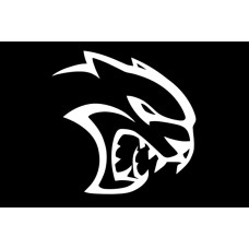 CHARGER SRT HELLCAT LOGO DIE CUT DECAL right