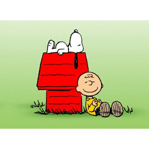 Charlie Brown And Snoopy Color Decal 2