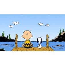 Charlie Brown and Snoopy Color Decal