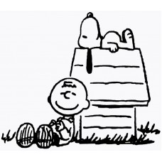 Charlie Brown and Snoopy Diecut Decal