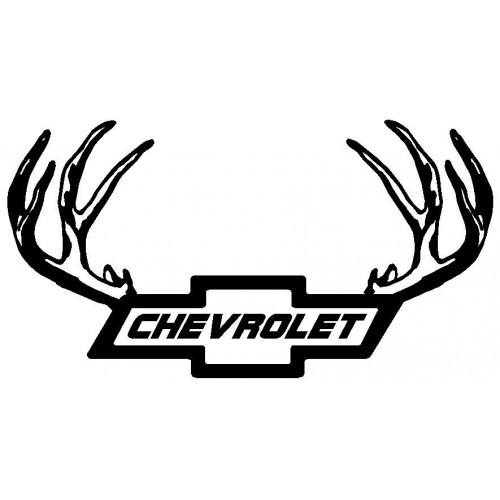 Chevy Logo Cheverlot With Antlers Deca