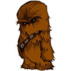 Chewbacca Cartoon Decal Diecut