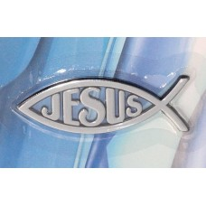 Chrome Christian Jeaus Fish Emblem SMALL