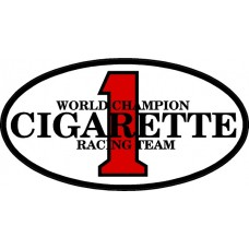 Cigarette Racing Color Oval Decal Sticker 2