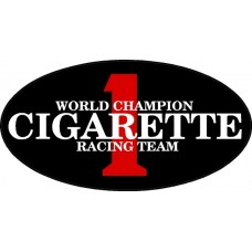 Cigarette Racing Color Oval Decal Sticker