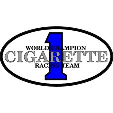 Cigarette Racing oval Decal Sticker 05