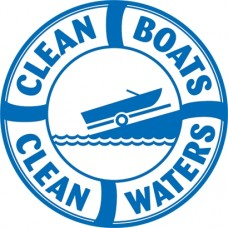 clean boats clean waters color boat decal