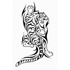 Climbing Tribal Tiger Die Cut Decal