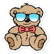 COOL TEDDY BEAR BARTHOLOMEW STICKER SUNGLASS