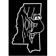 Coon  Hunting Mississippi Diecut Vinyl Hunting Decal