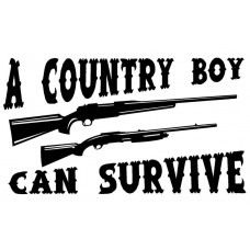 Country Boy Can Survive Decal