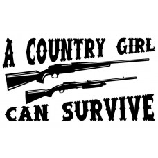 Country Girl Can Survive Die Cut Decal