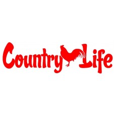 country life chicken sticker