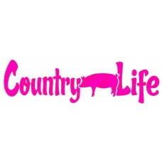 country life pig sticker
