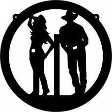 Cowboy and Cowgirl Decal 2