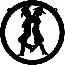 Cowboy and Cowgirl Decal