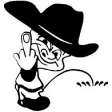 Cowboy Calvin flipping and peeing Decal