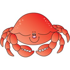 CRAB color fish decal