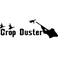 Crop Duster Funny Duck Hunting Decals