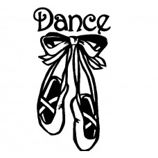 Dance Shoes Vinyl Diecut Decal