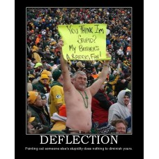 deflection packers raiders nfl football stupid fail loser ow demotivational