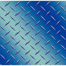 Diamond Plate Blue Medium Vinyl Sheet