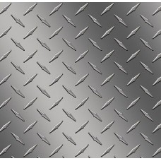 Diamond Plate Silver Vinyl Sheet