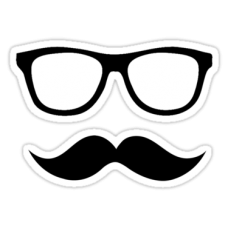 Diecut Color Moustache Stickers1